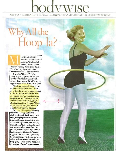 O Magazine - Hooping